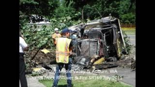 Dump Truck & Trailer Fire & Rollover 2011
