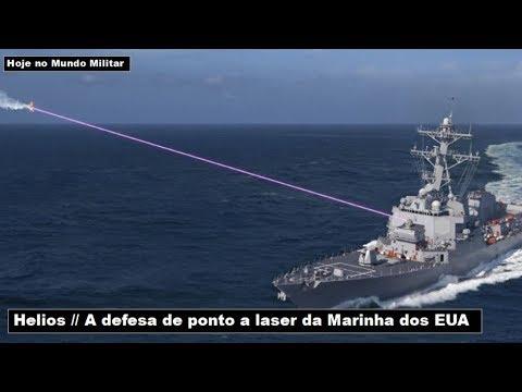 Helios a defesa de ponto a laser da Marinha dos EUA