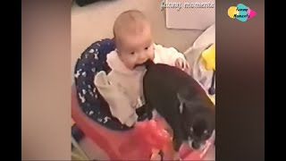 Try Not To Laugh-Funny Animals-Funniest Baby and Baby Animals Fails-cute Baby with animals -2019