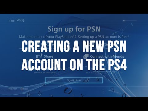 Creating a New PlayStation Network (PSN / SEN) Account on the PS4