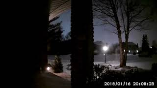 Michigan meteor footage from Roger B. in Macomb Township