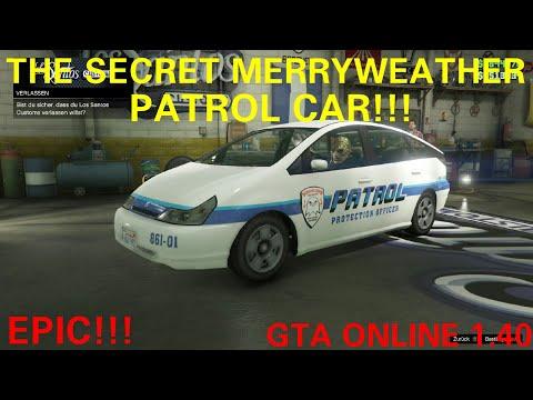 WTF!THE SECRET MERRYWEATHER PATROL CAR+SPAWN LOCATION!GTA V ONLINE/GTA5 CARS