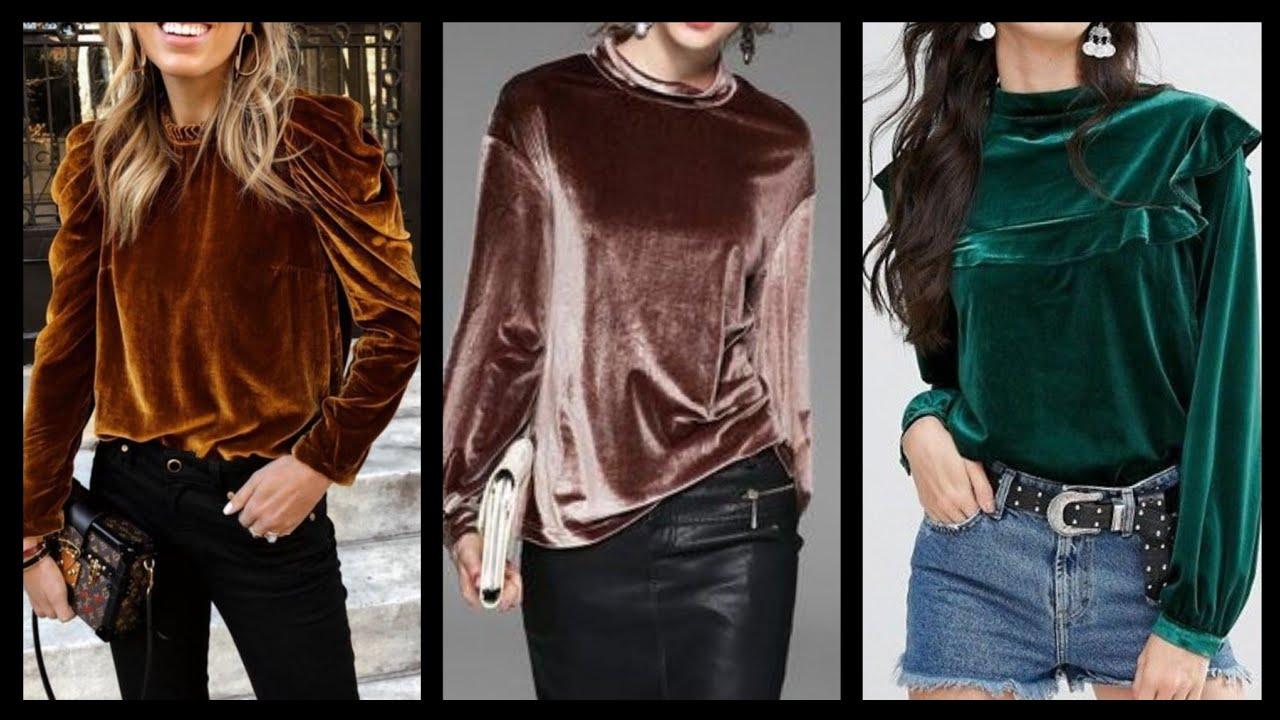 40 Best velvet tops Design images/Gorgeous Women's velvet top Ideas/stylish Velvet  tops/Tops Design. - YouTube