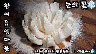 눈의 꽃❄ 블루밍 어니언 알토란 꽃양파 튀김/I made flowers by frying onions