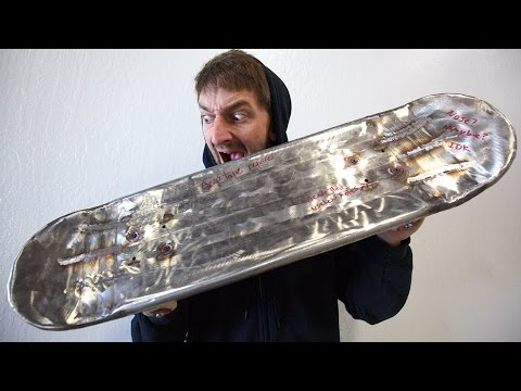 Thumbnail: STAINLESS STEEL SKATEBOARD | YOU MAKE IT WE SKATE IT EP 83