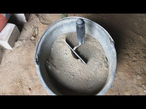 Цементный раствор, приготовление без инструмента