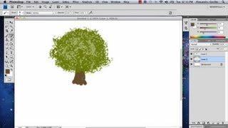 How to Draw a Shrub in Photoshop : Photoshop Tutorials