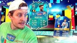 THE BELGIAN MESSI?! 95 PREMIUM TOTS FLASHBACK MERTENS PLAYER REVIEW! FIFA 20 Ultimate Team