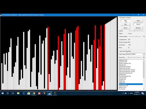Sound of Sorting Algorithms - This is awesome !!!!!!