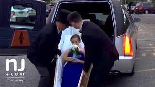Showing up to the prom in a hearse and coffin thumbnail