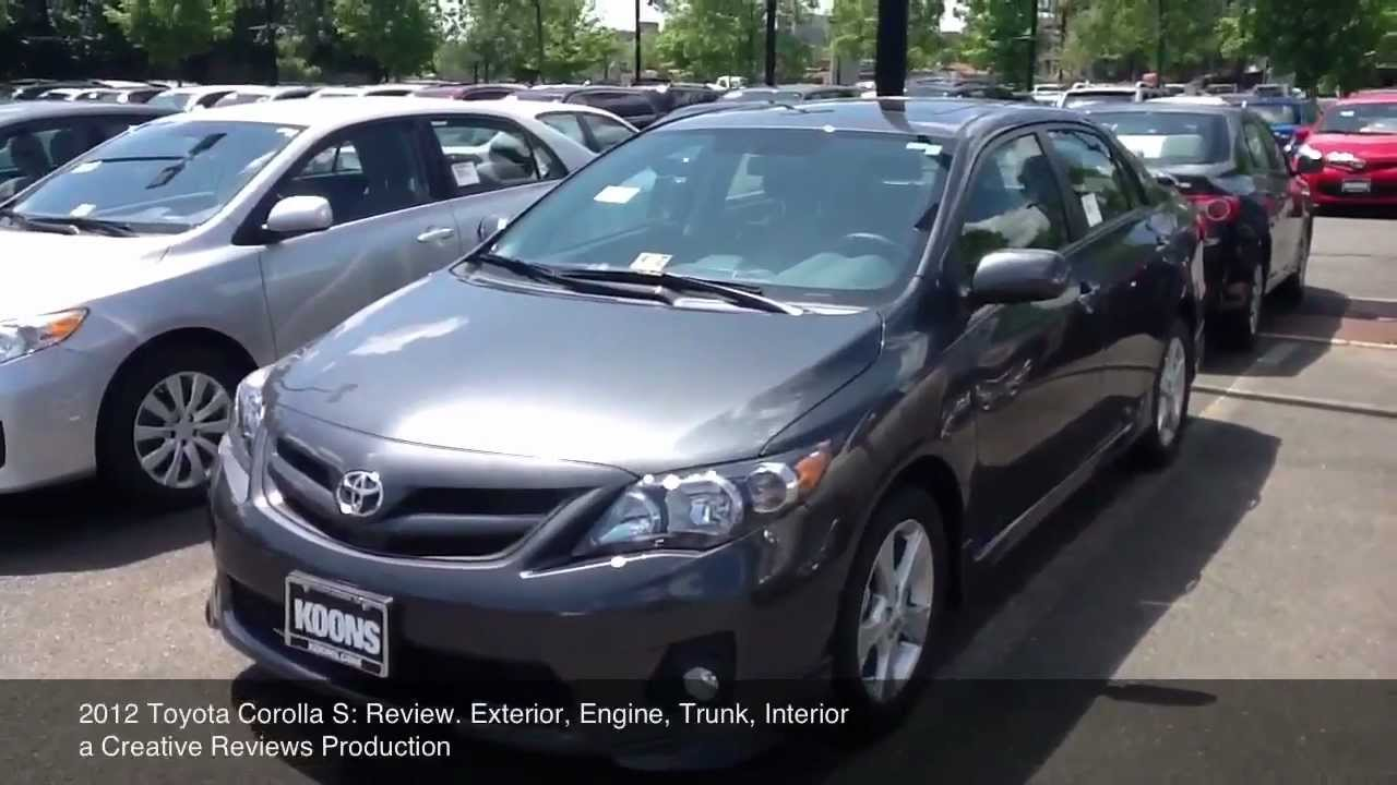 2012 Toyota Corolla S Review Youtube