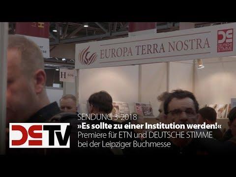 DS-TV 3-18: Premiere für ETN und DEUTSCHE STIMME bei der Leipziger Buchmesse