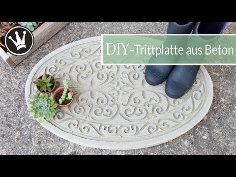DIY - BETON Trittplatte selber machen | Gartendeko aus Beton | ANKÜNDIGUNG meines NEUEN PROJEKTES !