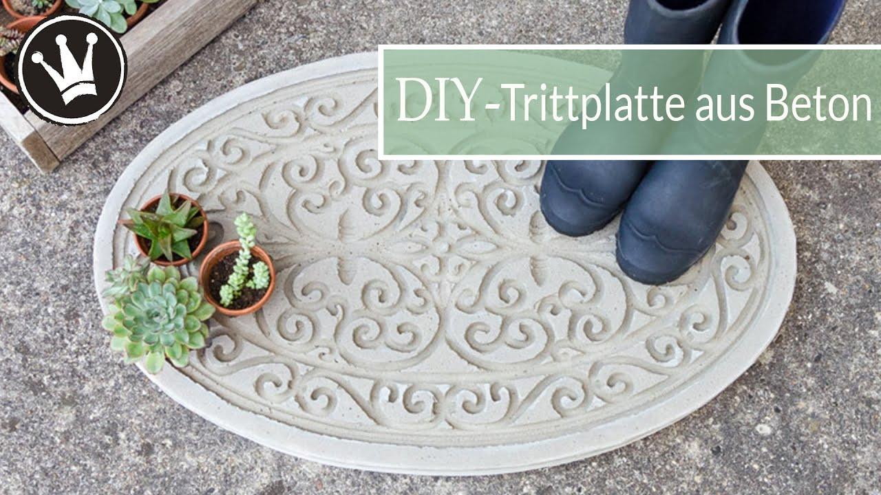 DIY   BETON Trittplatte selber machen   Gartendeko aus Beton    DekoideenReich