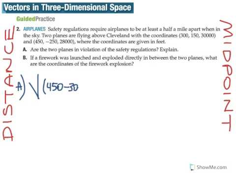 vectors in three dimensional space distance&midpoint