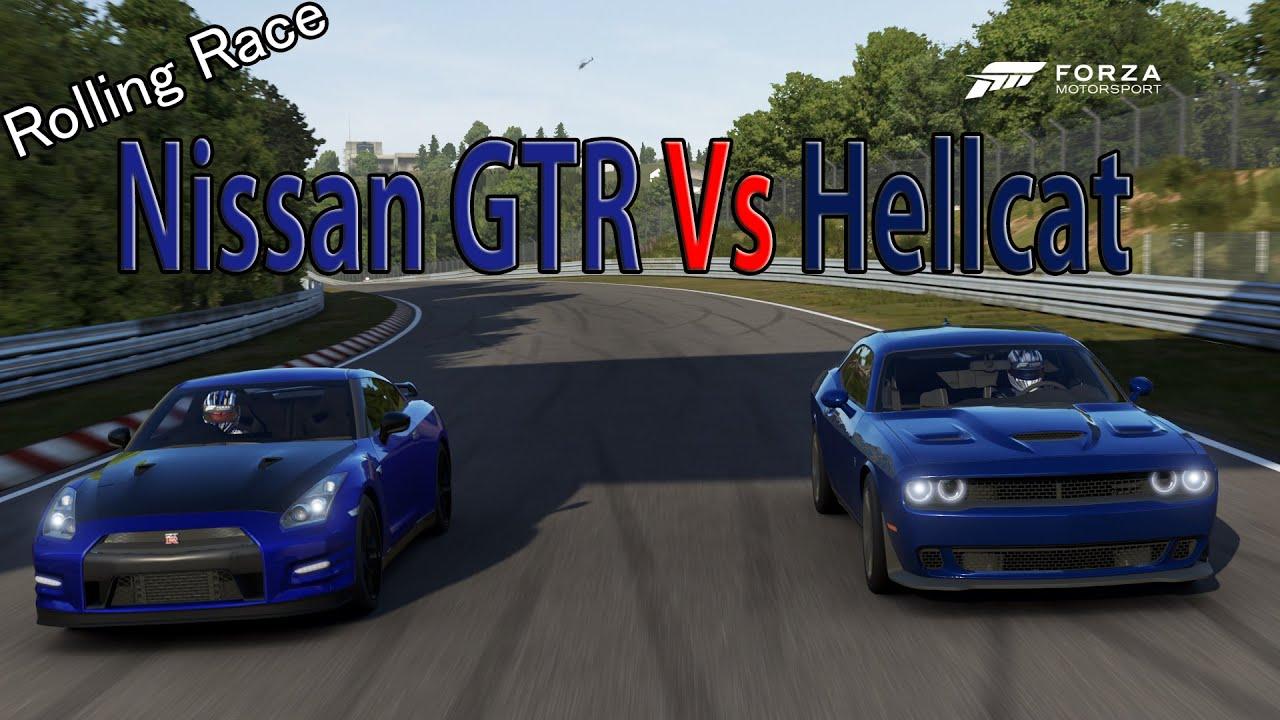 2015 Dodge Challenger Srt Hellcat >> Forza Motorsport 6 - DRAG RACE: Dodge Challenger SRT Hellcat Vs Nissan GTR - YouTube