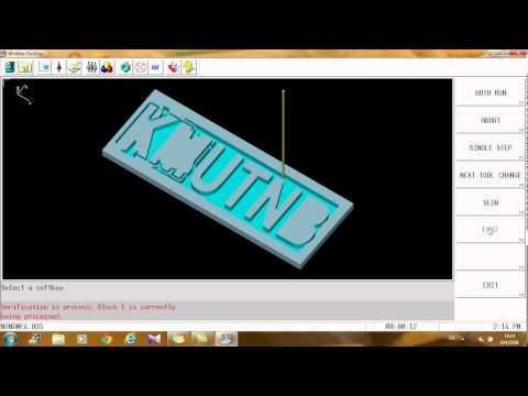 KMUTNB : Varification Graphics By WinMAX - HURCO