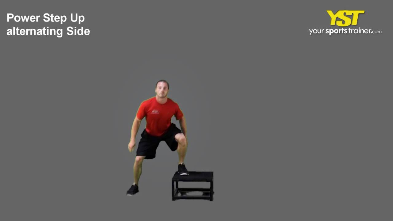 Power Step Up Alt Side Exercise - YouTube  Power Step Up A...
