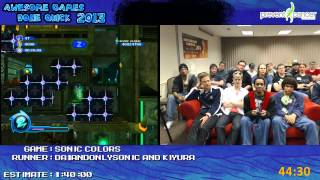 Sonic Colors - SPEED RUN Live in 54:52 by Da1AndOnlySonic (Awesome Games Done Quick 2013) Wii