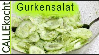 Gurkensalat mit Dill selber machen - Omas Rezept