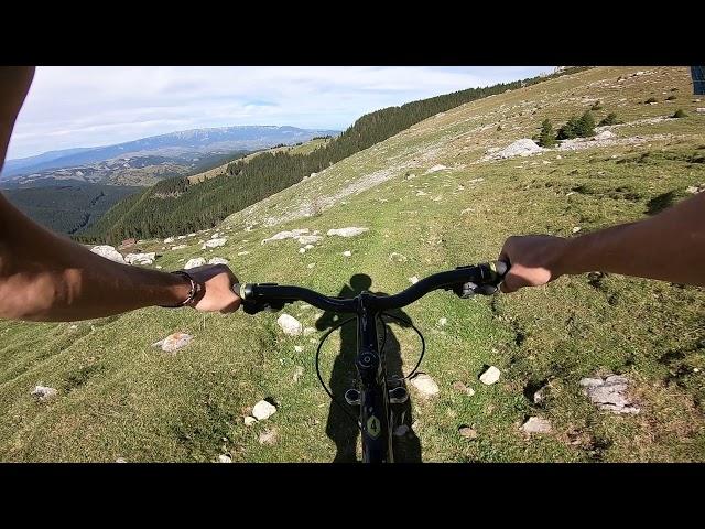 Aventuri pe bicicleta : Portiune de coborare in Bucegi