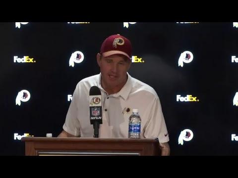 #Redskins head coach Jay Gruden speaks to media after win vs. 49ers. #HTTR