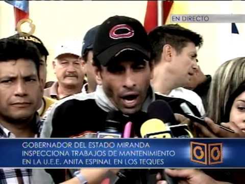 Capriles: no dejaremos que la politiquería y la política influyan sobre la educación