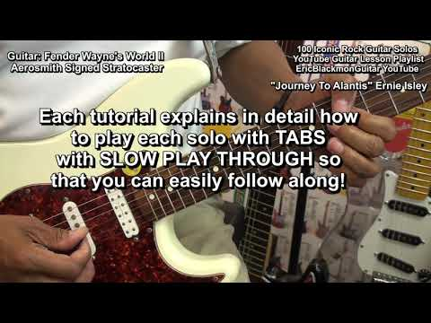 How To Play 100 Famous Iconic Guitar Solos - EricBlackmonGuitar YouTube