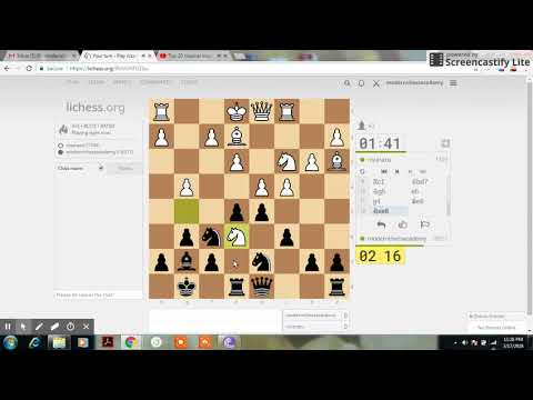 Blitz Game 001 | Sri Lanka Chess | Modern Chess Academy