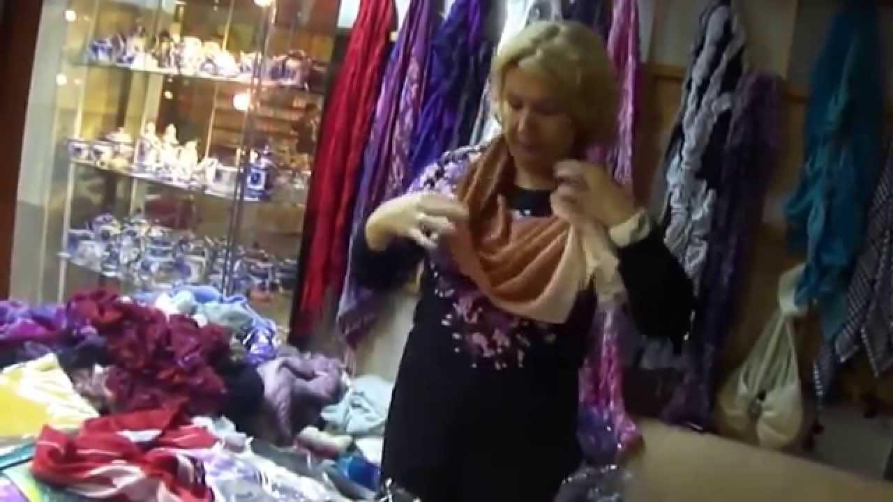 Как красиво и быстро завязать шарфик,палантин или платок!!!