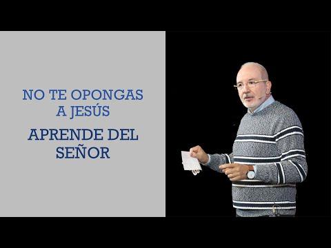 No te opongas a Jesús, aprende del Señor | Pr. Benigno Sañudo
