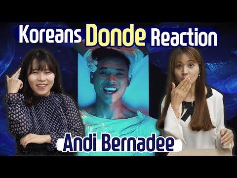 Korean React to Andi Bernadee, Donde!  + Blimey interpretation