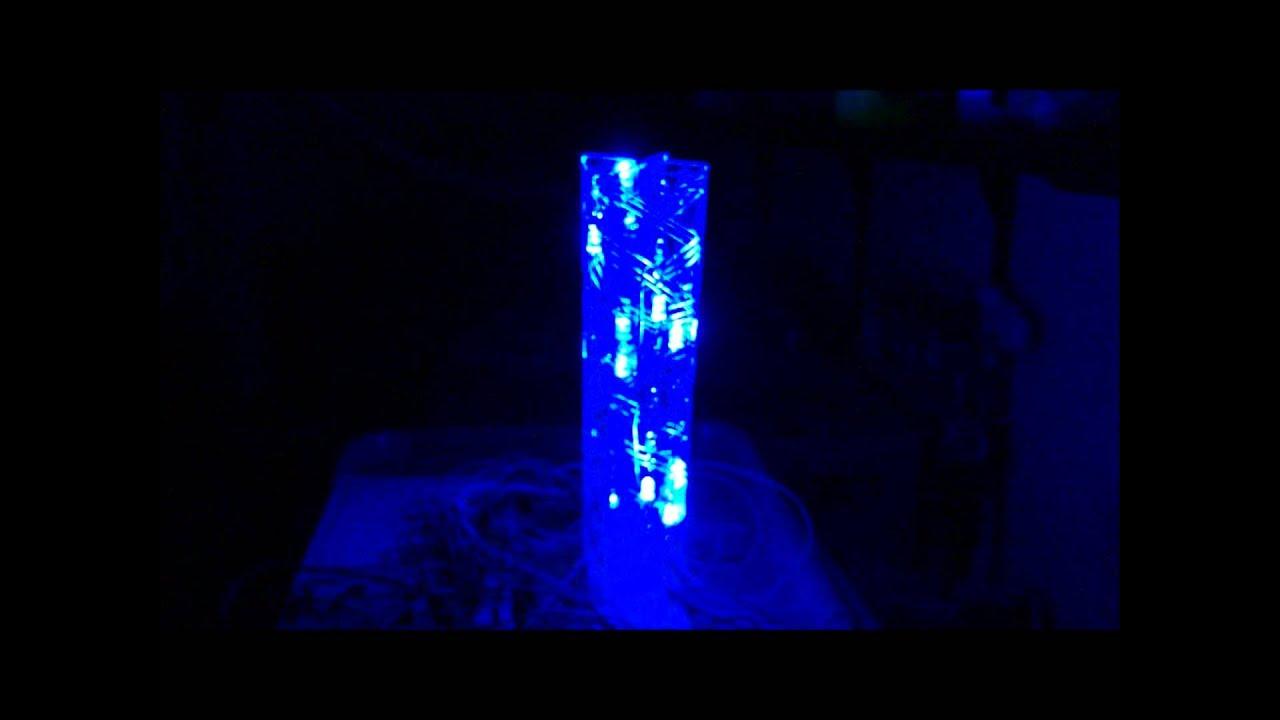 4x8 MUXed MAX7219 RGB Led Tower - YouTube