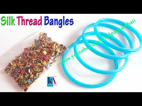 How to make #Tribal Style Designer Silk Thread Bangles  // Kalpana Ambati