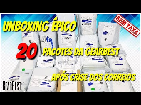 🛑Correios liberou tudo Unboxing 20 pacotes só produtos TOP Gearbest