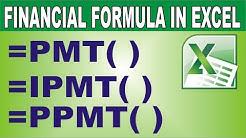 Excel Financial Functions  (PMT, IPMT, PPMT) in Hindi