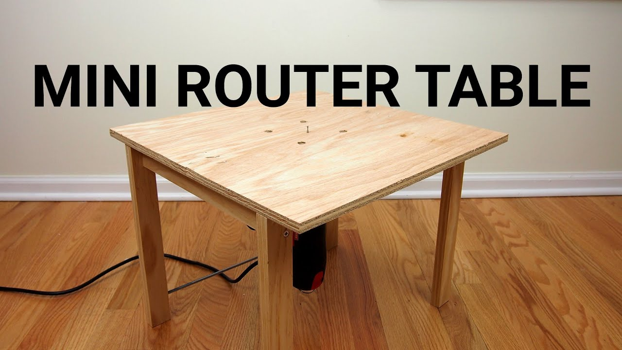 How to make a mini router table youtube how to make a mini router table greentooth Choice Image
