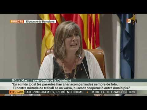 Discurs Núria Marín en la proclamació com a presidenta de la Diputació de Barcelona.