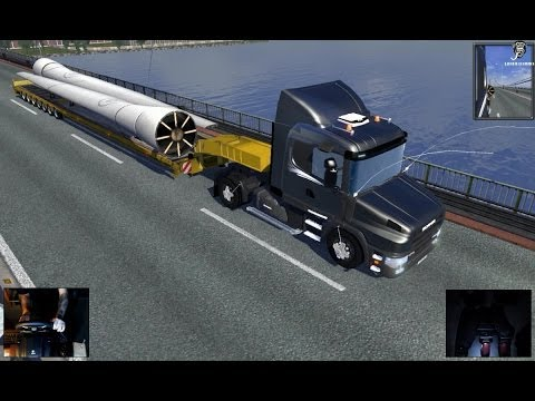 Delivery (Over Sized Cargo) (Scania 124g) (Mega Heavy Trailer) - Euro Truck Simulator 2