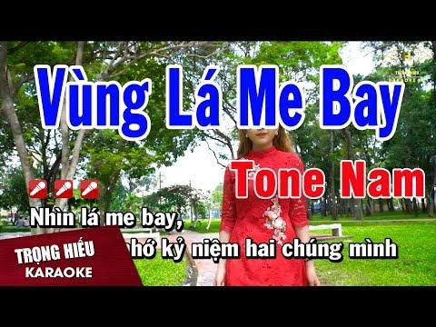 Karaoke Vùng Lá Me Bay Tone Nam Nhạc Sống   Trọng Hiếu