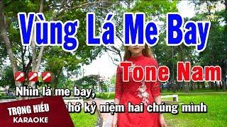 Karaoke Vùng Lá Me Bay Tone Nam Nhạc Sống | Trọng Hiếu