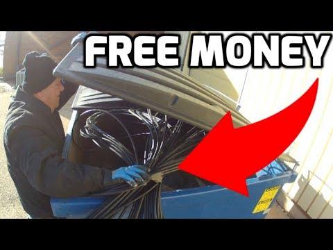 FREE Scrap Metal = FREE Money!Dumpster Diving for Scrap Metal