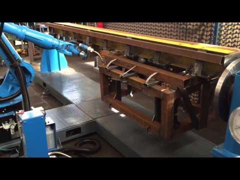 видео: Производственный процесс на площадке ООО СМОЛ - роботизированный сварочный комплекс kuka