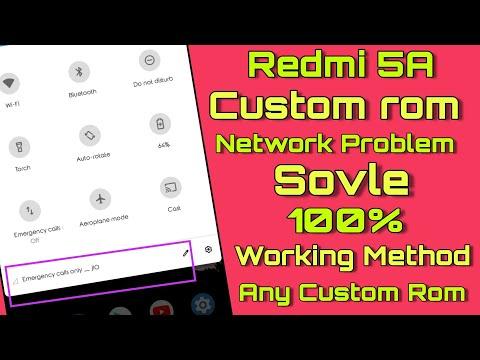 Redmi 5A Custom rom Network Problem Solve 100% Working Method - Redmi 5a Sim card Problem