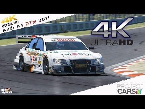 Project CARS 4k Ultra HD Audi A4 DTM 2011 Mod at Bathurst