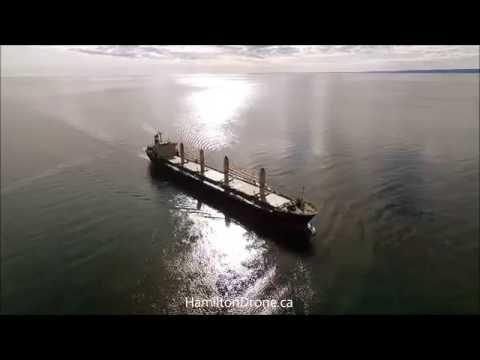 Cargo Ship drone video