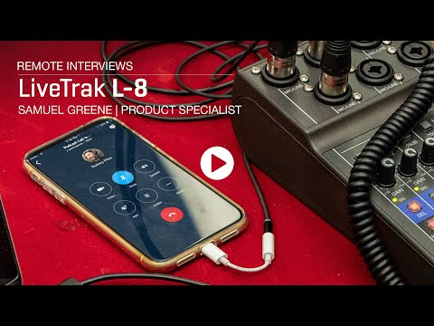 Zoom LiveTrak L-8 : Remote Interviews