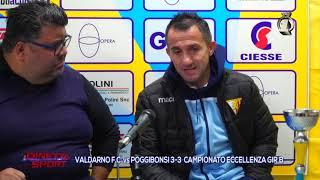 Eccellenza Girone B Valdarno-Poggibonsi 3-3