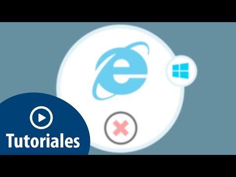 Cómo eliminar o reinstalar Internet Explorer 11 en Windows 10
