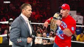 Raw: John Cena pleads with Mr. McMahon to reinstate CM Punk